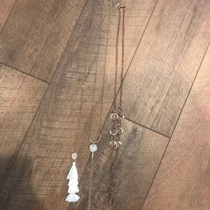 Jewelry - Long necklaces and badge holder bundle